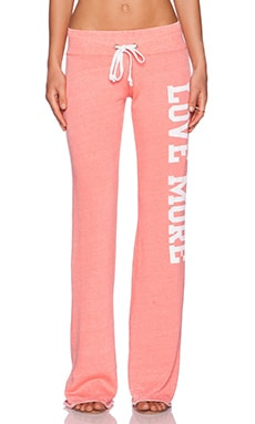 Rebel Yell Love More Boyfriend Sweatpant in Melon