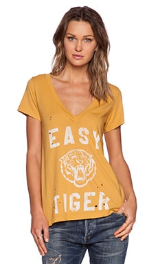 Rebel Yell Easy Tiger Tee in Gold