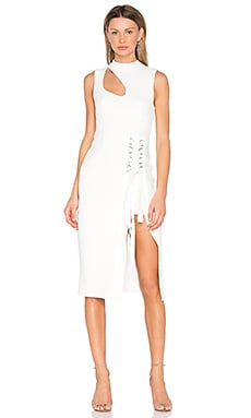 Billie Cutout Midi Dress in Ivory