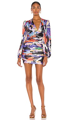 Belladonna Long Sleeve Mini Dress Rebecca Vallance $358