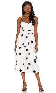 Bonita Frill Midi Dress Rebecca Vallance $333