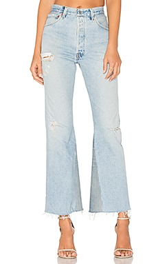 Levis Leandra High Rise Crop Flare in Indigo