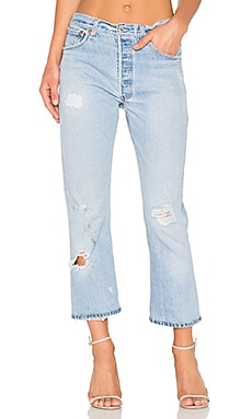 Levis High Rise Crop Straight