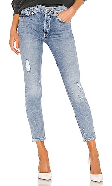 JEAN SKINNY HIGH RISE ANKLE CROP RE/DONE $189
