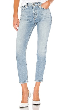 High Rise Ankle Crop Jean RE/DONE $235