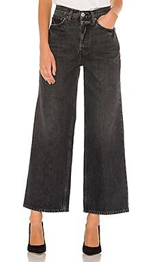 Широкие джинсы 60s - RE/DONE Черный фото