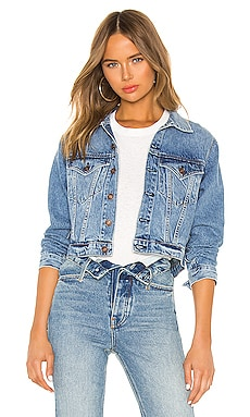 VESTE EN JEAN CROPPED 60S RE/DONE $350 BEST SELLER