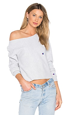 x REVOLVE Cropped Sweatshirt in Grey