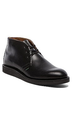 Red Wing Shoes Postman Chukka in Black Chapparral