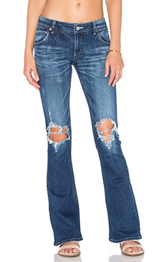 Regalect Extend Distressed Flare in Blue