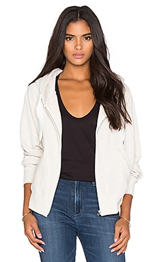 Regalect Dolman Zip Hoodie in White