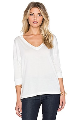 Regalect Eryulle Dolman 3/4 Sleeve Top in White