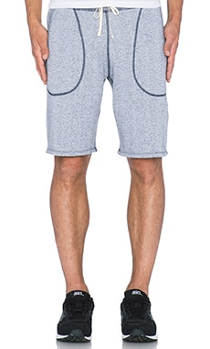 Reigning Champ Sweatshort in White/Navy