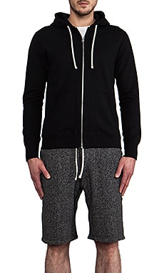 Core Full-Zip Hoodie in Black
