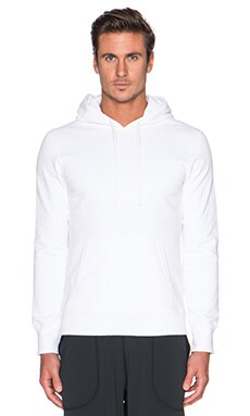 Reigning Champ L/S Pullover Hoodie in White