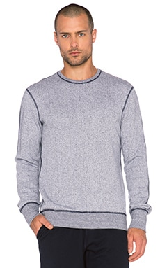 Reigning Champ Crewneck Sweatshirt in White/Navy