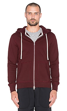 Reigning Champ Midweight Zip Hoodie in Blood