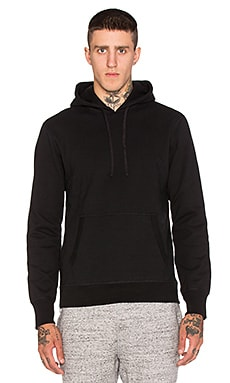 Reigning Champ Heavyweight Side Zip Hoodie in Black