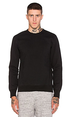 Reigning Champ Heavyweight Side Zip Sweatshirt in Black