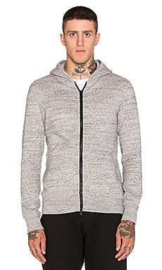 Reigning Champ Mesh Fleece Zip Hoodie in Asphalt