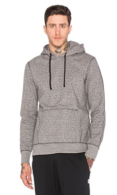 Reigning Champ Side Zip Pullover Hoodie in E Charcoal