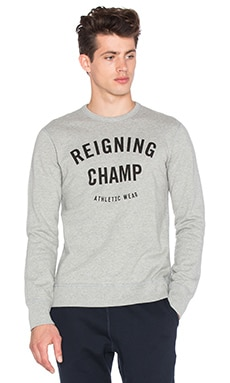 Reigning Champ Gym Crewneck in Heather Grey
