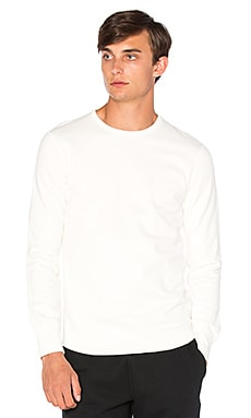 Reigning Champ Scalloped L/S Crewneck in Winter White