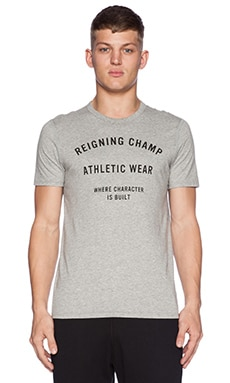 Reigning Champ Set-In Tee in Heather Grey