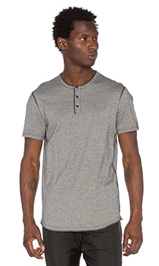 Reigning Champ S/S Henley in Black