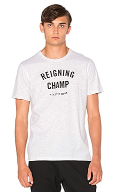 Reigning Champ Gym Logo S/S Tee in Snow