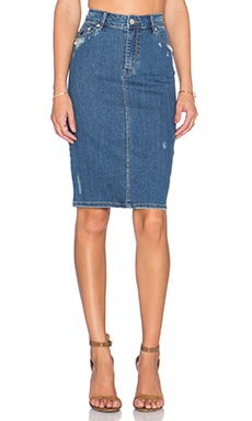 RES Denim Take A Longline Skirt in 1977 Vintage