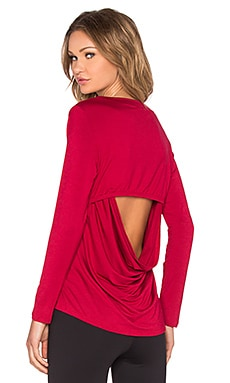 Rese Megan Long Sleeve Top in Cherry Red
