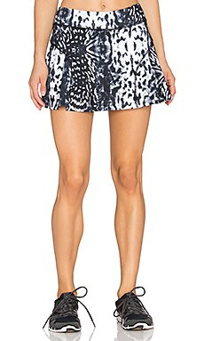 Rese Maria Skirt in Black & White Jaguar