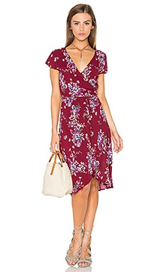 REVERSE Caroline Dress in Maroon Pink Blue Floral