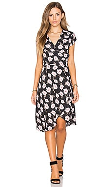 REVERSE Caroline Dress in Black Pink Floral