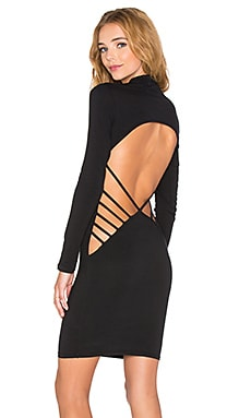 Back it Up Bodycon Dress in Black