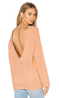 Lodge Sweater in Peach