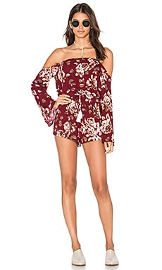 Abby Romper in Burgundy Floral