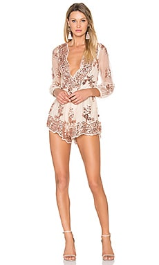 Glow Up Romper in Nude