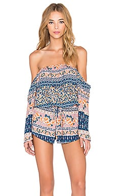 REVERSE Freestylin' Romper in Peach Print