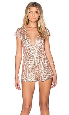 REVERSE Disco Queen Romper in Gold