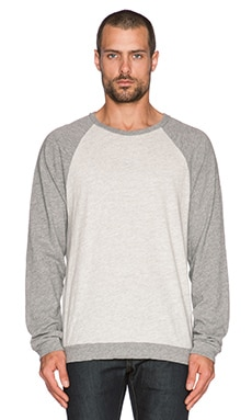 rag & bone Long Sleeve Raglan Sweatshirt in Pale Grey