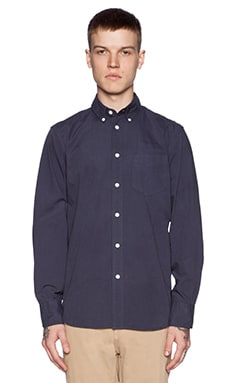 rag & bone Standard Issue Button Down in Navy