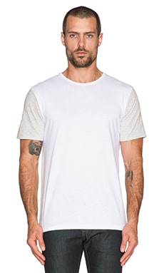 rag & bone Colorblock Tee in White