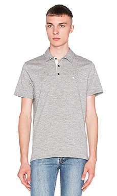 rag & bone Standard Issue Polo in Medium Grey