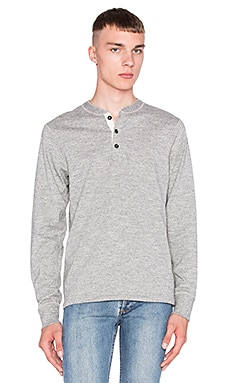 rag & bone Basic Henley in Medium Grey