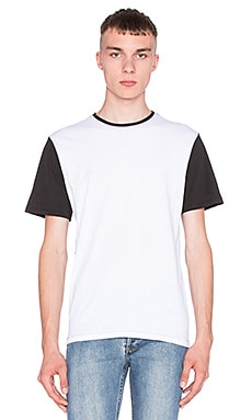 rag & bone Everett Colorblock Tee in Bright White