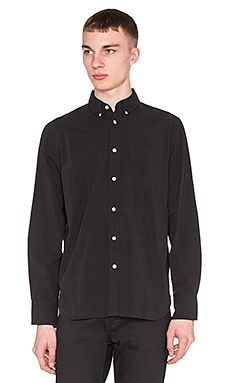 rag & bone Standard Issue Button Down in Black