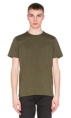 rag & bone Standard Issue Pocket Tee in Dark Olive