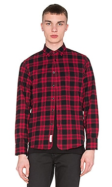 rag & bone 3/4 Placket Button Down in Red Check